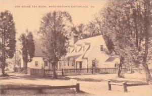 Virginia Westmoreland County Log House Tea Room Washington Birthplace Artvue