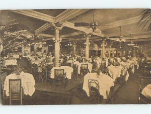 Divided-Back TABLES IN RESTAURANT Postmarked Spokane Washington WA L0239