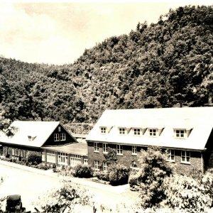ca 1930 Postcard Historic North Carolina Building Aluminum Co Topoco Lodge RPPC