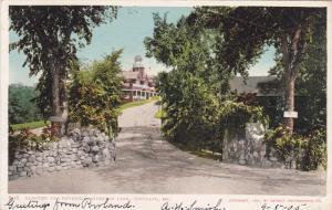 PORTLAND, Maine, PU-1905; Electric Car Entrance, Riverton Park
