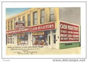 Burl & Kenney Cash Registers,Brooklyn,New York storefront, 30-40s