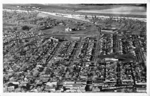 Billings Montana Birdseye View Of City Real Photo Antique Postcard K102156