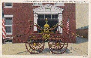 Fire Apparatus Presented By George Washington 1774 Alexandria Virginia Curteich
