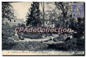 Old Postcard Forges les Bains S and O sources