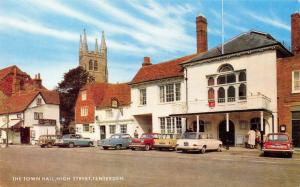 Vintage 1960s Postcard The Town Hall, High Street, Tenterden, Classic Cars L73