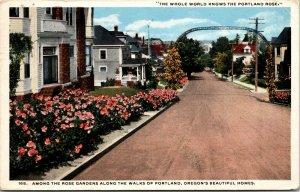 Oregon OR Portland  Gardens Rose Garden Sunken Postcard Old Vintage Card
