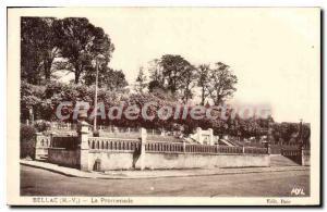 Postcard Old Bellac Promenade