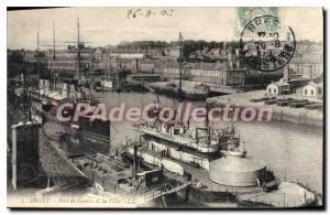 Postcard Old Port Brest War And The City