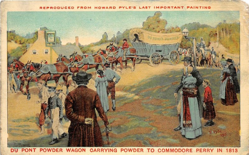 H76/ Wilmington Delaware Postcard c1910 Du Pont Powder Commodore Perry 120