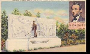 Indiana Vincennes Memorial Marking Spot Where Lincoln Family Entered Illinoi ...