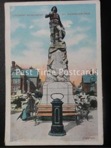 Lancashire ST ANNES ON SEA Lifeboat Monument - Old Postcard by G.D.& D.L.