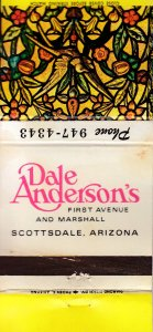 Matchbook Cover ! Dale Anderson's, Scottsdale, Arizona !