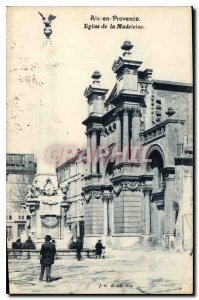 Old Postcard Aix en Provence Madeleine Church
