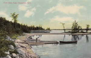 LAKE CHAMPLAIN, New York, 1900-10s; Twin Bays