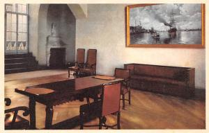 Sweden Old Vintage Antique Post Card City Hall, Waiting Room in Council Room ...