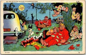 RAY WALTERS Postcard Outside Accommodations Curteich Linen Everyday Comics C43