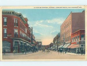 W-Border STREET SCENE Hot Springs Arkansas AR W1922