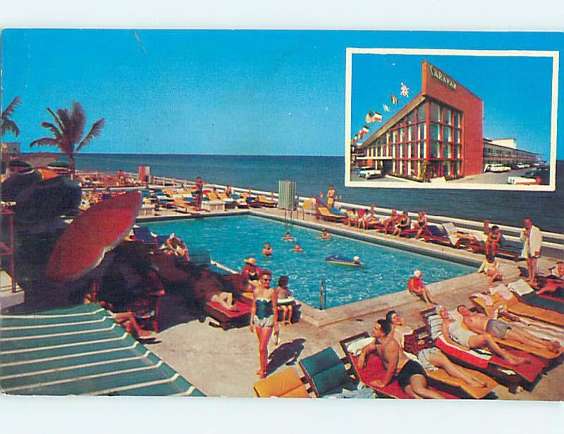 Unused Pre-1980 THE CARAVAN MOTEL Miami Beach Florida FL n7249