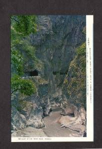 Welcome Gorge Cliff of Ewcross Island Hwy Taiwan Republic of  China Postcard