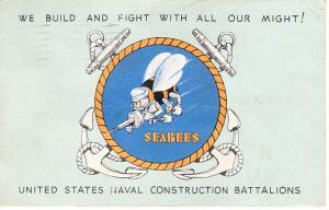 US Navy - Seabees Logo  Post Card