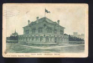 AMARILLO TEXAS ELKS HOME LODGE VINTAGE POSTCARD LIBERTY KANSAS MOORE