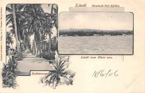 German East Africa Tanzania Lindi vom Fluss aus, Zollstrasse 1906