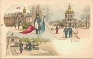 France Les Invalides Paris Litho 03.37