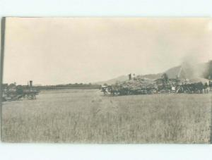 Pre-1920's rppc STEEL WHEEL TRACTOR State Of Washington WA i5853