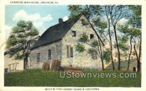 Christian Herr House Lancaster PA 1939 Missing Stamp