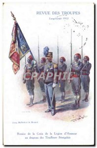 Old Postcard Army Review troops Longchamps in 1913 Shed of the Cross of the L...