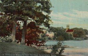 DAMARISCOTTA,  Maine, 1916; A Glimpse of Newcastle from the River