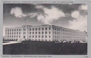 California Albany Western Regional Research Laboratory U S Dept of Agriculture