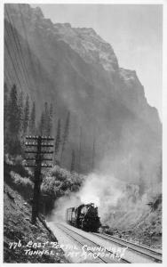 British Columbia Canada train Connaught Tunnel Mt Macdonald real photo pc Z26798