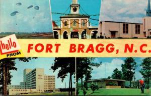 North Carolina Hello From Fort Bragg Multi View