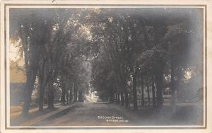 Bangor Maine~Second Street Homes~Sign on Tree~1909 Real Photo Postcard~RPPC