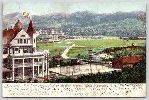 White Mountains NH~Bretton Woods~Tennis Court~Bridge~Ammonoosoc Valley~1908