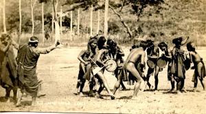 Africa - Congo. Igorot War Dance - RPPC