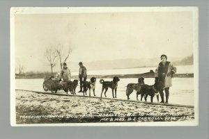 CANADA RP1936 CROSS-COUNTRY Traveler Travelers DOG TEAM B.J. Carroll B.C. to N.S