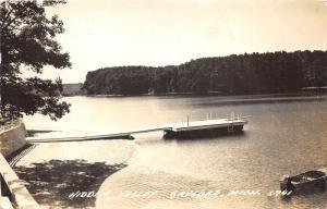 Gaylord Michigan~Hidden Valley Resort?~Boat Dock~Lake~Otsego County~'55 RPPC