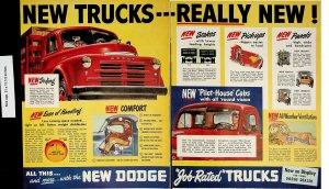 1948 Dodge Trucks Pilot House Cabs Vintage Print Ad 4182a-b
