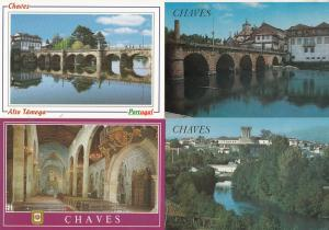 Chaves Portugal 4x Postcard s