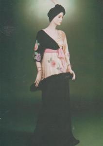 Paul Poiret Paris 1911 Evening Dress Satin Tunic London Museum Fashion Postcard