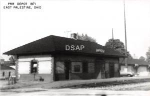Ohio Postcard Real Photo RPPC Railroad Depot Station 1971 EAST PALESTINE