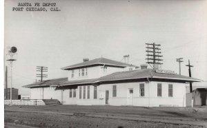 Port Chicago California Santa Fe Depot Train Station Real Photo Postcard AA34440