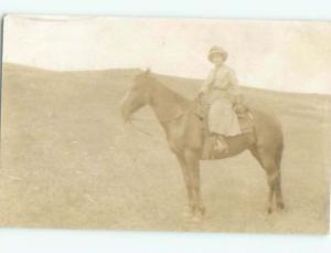 Old rppc HORSE SCENE Great Postcard AB1943