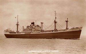 SS City of Durham Ellerman & Bucknall SS Co Ship Unused
