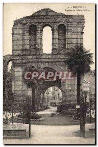 Bordeaux Postcard Old Palace Ruins Gallien