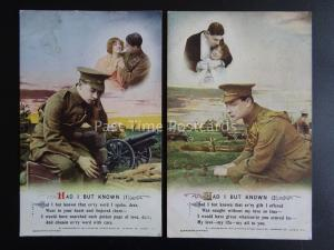 HAD I BUT KNOWN - WW1 Bamforth Song Cards set of 2 No 4986