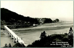 Vintage Oregon RPPC Postcard At GOLD BEACH on the Rogue River LAWS Photo #1705