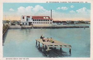 Florida St Petersburg Bathing Beach and The Spa 1924 Curteich